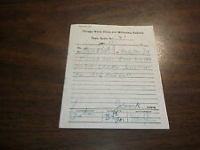 NOVEMBER 1962 CNS&M CHICAGO NORTH SHORE AND MILWAUKEE TRAIN ORDER #21