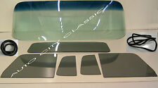 1956 FORD PICKUP TRUCK WINDSHIELD VENTS DOORS SMALL BACK GLASS GREY +GASKETS