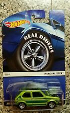 2015 Hot Wheels Real Riders #5 HARE SPLITTER☆Green Volkswagen Golf GTI