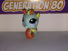 Littlest PetShop HIPPOCAMPE VERT ORANGE 1566 J033 SEAHORSE SEA HORSE Pet Shop