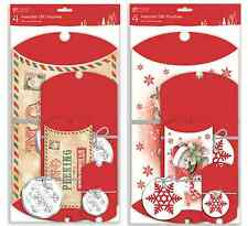 8 Christmas Gift Wrap Pouches Pillow Box Boxes Assorted Sizes & Designs POPD/PY