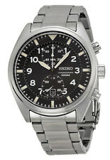 Seiko SNN231 Men's Stainless Steel Black Dial Chronograph Sports Watch