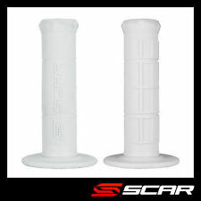Scar Racing GRIP HALF WAFFLE WHITE MOTO CROSS MX ENDURO SUPERMOTO