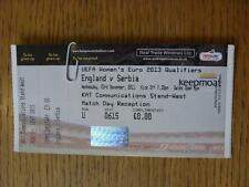 23/11/2011 Ticket: England Women v Serbia Women [At Doncaster Rovers] Complete