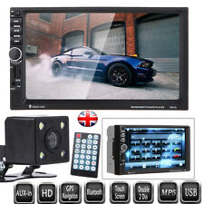 "GPS Navigation 7"" HD Double 2 Din Car MP5 Player Bluetooth Head Units GPS+Camera"