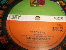 "JAN AKKERMAN "" CRACKERS / ANGEL WATCH "" 7"" SINGLE ATLANTIC 1978 EXCELLENT"