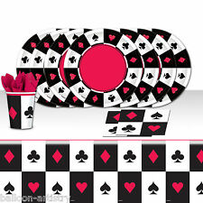 Casino Bets Playing Cards Night Birthday Complete Party Tableware Pack For 16