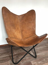 BKF Star Design Brown Leather Butterfly Arm Chair  Armchair ONLY COVER