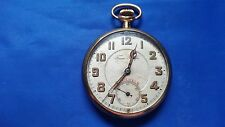 Vintage Trans Pacific Open Face Pocket Watch. G.F. Case. Swiss. 21 j. For parts.