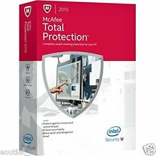 Mcafee total protection 2015/2016 anti-virus/sécurité internet logiciel 3 pc uk