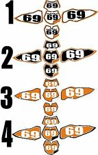 2008-2011 KTM EXC Number Plates Side Panels Graphics Decal