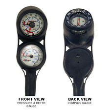 NEW Compact Scuba Dive Brass SPG and Depth Gauge w/ Compass Console PSI & BAR