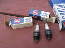 NOS AC Fire Ring spark plugs for 1962 Chevrolet Corvette 327, in the GM box