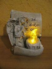 """Grab ,Engel mit Led Licht und Spruch, """"Ich denk an Dich"""" Steinoptik, TOP ANGEBOT"""