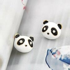 1 Pair Fashion Women Lady Gold Color Panda Ear Stud Earrings Jewelry