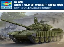 ◆ Trumpeter 1/35 05599 RUSSIAN T-72B/B1 MBT W/KONTAKT-1 REACTIVE ARMOR model kit