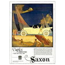 Saxon Motor Advertising Poster Deco Magnet, Duplex Engineering Mini Gifts Fridge