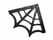 2 Mild Steel Spider Web Gusset 4 x 4 Plasma Cut 3/16 in 90 Degree 1875 Bracket