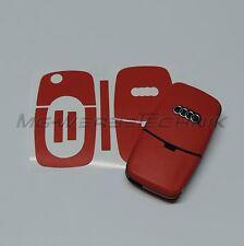 1A_Schlüssel-Dekor Aufkleber für 1. Gen. Audi A2 A3 A4 A6 A8 TT rot matt