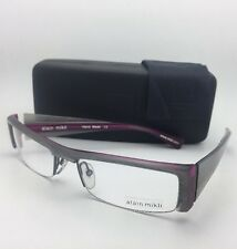 Rare ALAIN MIKLI Eyeglasses AL 0629 26 56-19 Grey & Purple Semi-Rimless Frame