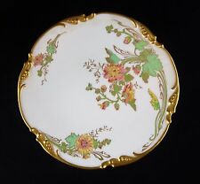 Limoges China Jean Pouyat Floral Cabinet Plate - Wanamaker Design