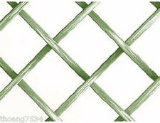 Green White Lattice Geometric Criss Cross Diamond Wallpaper Double Roll NORWALL