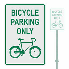 "BICYCLE PARKING ONLY HEAVY DUTY ALUMINUM SIGN 10"" x 15"""
