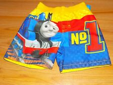 Size 0-3 Months Thomas the Tank Engine No.1 Swim Trunks Board Shorts Yellow  New