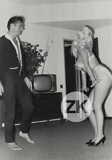 JAYNE MANSFIELD Blonde M. HARGITAY Bodybuilder TV Cheesecake Kitsch Photo 1950s