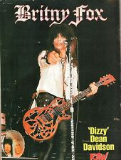 BRITNY FOX : Dizzy magazine PHOTO/Poster/clipping 11x8 inches