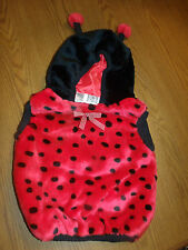 ADORABLE!! LADY BUG PLUSH HALLOWEEN COSTUME SIZE 12-24 MONTHS EUC