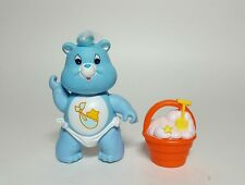 Vintage 1984 Care Bears Pink Baby Tugs Bear Complete w Bucket Accessory