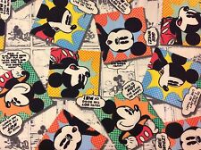 DISNEY MICKEY MOUSE FABRIC FQ/FAT QUARTER 100% COTTON