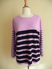NEW J.CREW COLLECTION CASHMERE BOXY BOY SWEATER IN STRIPE,37482, XL $238