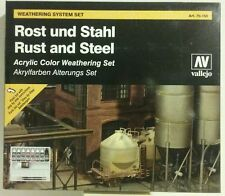 Vallejo acrylic paint,  Rust and Steel weathering set.