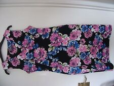 Ladies Size10 Sleeveless Polyester & Elastane Floral Dress