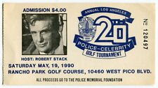 1990 Ticket: LAPD/Celebrity Golf Game - ROBERT STACK