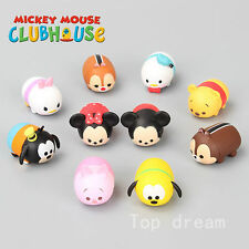 10pcs Mickey Minnie Mouse Cake Toppers Clubhouse Donald Daisy Duck Goofy Figures