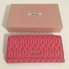 Pink Miu Miu Continental Wallet 100% Authentic