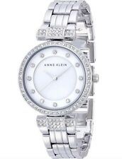 Anne Klein Watch * 1853MPSV Mother of Pearl Crystals Silver Steel COD PayPal