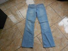 H1685 LEVIS 572 Bootcut Jeans w28 bleu clair sans motif