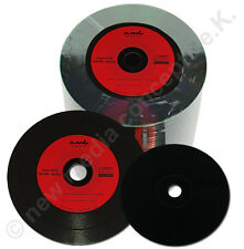 100 Vinyl CD Rohlinge CD-R 700 MB 80min Schallplatten Optik, Rotes Label