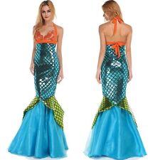 Frauen Damen Sexy Nixe Prinzessin Meerjungfrau Mermaid BH kleid Cosplay Kostüm