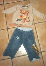 Disney at george garçons winnie l'ourson tigrou jean et haut à manches longues 3-6 mois