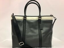 NWT Coach Authentic Men's Perry Business Tote Graphite/Chalk/Black F57568 $550