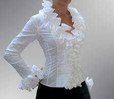 "ANNE FONTAINE FRANCE ""KIMMY"" white TOP Blouse cotton Sz FR 42,"