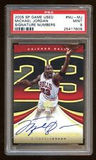 MICHAEL JORDAN 2005 SP GAME USED GOLD AUTO #D 23/23 SIGNATURE NUMBERS PSA 9  WOW