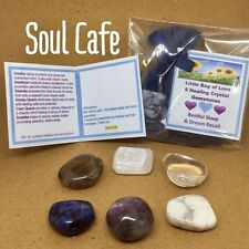 Restful Sleep and Dream Recall Healing Crystal Gemstones 6 Tumblestones gift set