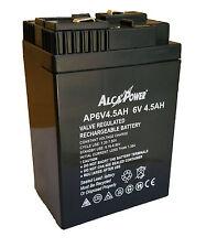 Batteria al PIOMBO 6V - 4,5 AH Ricaricabile Ermetica per lampade d'emergenza ...