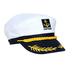 1Pcs Skipper Ship Sailor Navy Yacht Military Captain Nautical Hat Cap Costume